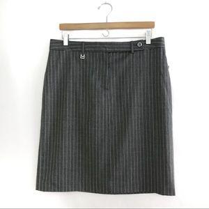 {Michael Kors} Gray pinstriped pencil skirt sz 12